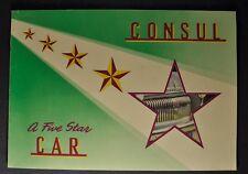 1953 English Ford Consul Catalog Sales Brochure Excellent Original 53
