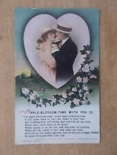 VINTAGE WW1 BAMFORTH SONG CARD - APPLE BLOSSOM TIME WITH YOU - 4995/2