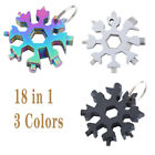 Portable 18 In 1 Multi Tool Snowflake Shape Key Chain Screwdriver Stainless Tool