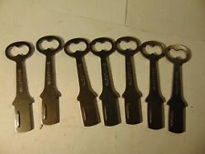 7 old vintage ORG YALE STEEL  Padlocks   Keys       locksmith