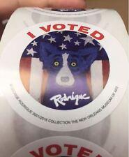 2 George Rodrigue Blue Dog I Voted Sticker Louisiana 2016 Good Stocking Stuffer!