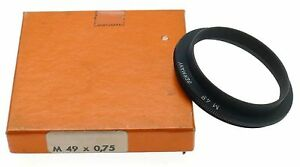 NOVOFLEX M49 x0.75 CAMERA LENS ADAPTER RING EXTENSION TUBE NEW OLD STOCK