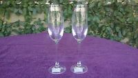 Miller Rogaska Crystal Checkered Accent Wine Champagne Flute Reed & Barton 9.25""