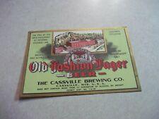 1933 Cassville Brewery Wisconsin U-Permit Irtp Lager Beer Misprint Label