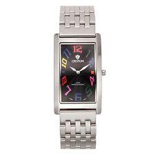 Croton Men's CN307533SSBK Aristocrat Stainless Steel Rectangular Watch
