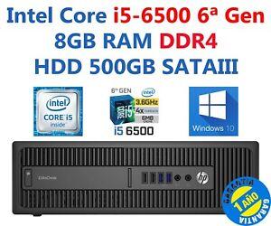 PC HP 800 G2 SFF Core i5-6500 RAM 8GB HDD 500GB W10