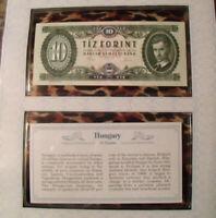 *Most Treasured Banknotes Hungary 10 Forint 1975 UNC P 168e