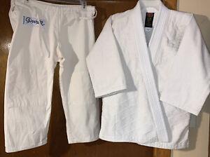 ProForce Kids Tae Kwon-Do Martial Arts Uniform Jacket & Pants Belts Size 0 White
