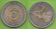 France; 2012; 2€, commémorative, EMU,10 ans de l'Euro, ayant circulé