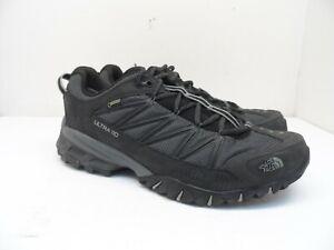 The North Face Mens Ultra 110 GTX Trail Running Shoes Black/Dark Shadow Grey 10M