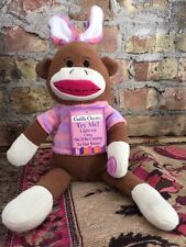 Dan Dee Sock Monkey Plush Sings And Lights Up With Tag