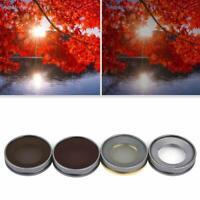 4Pcs Mini Optical Glass UV CPL ND4/8 Lens Filter Kit for DJI Osmo Action Camera