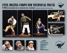 1/35 Scale resin kit Civil Militia Corps - MENG pick-up Technical Truck (3 Figs)