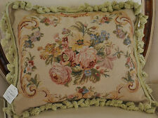 """16""""x 20"""" French Country Style Handmade Petite Point Needlepoint Pillow WM-60"""