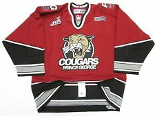 PRINCE GEORGE COUGARS AUTHENTIC WHL PRO CCM HOCKEY JERSEY SIZE 54