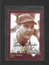 """Diamond Signatures - DAVE """"Boo"""" FERRIS - Hand Signed Autograph - RED SOX"""
