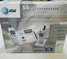 AT&T CORdless Answering System EXPANDALE Polyphonic Tones 2 handSet Telephone