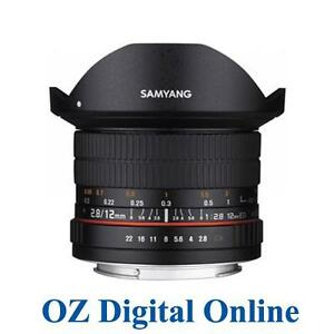New Samyang 12mm f/2.8 ED AS NCS Fish-eye Lens for Canon 1 Yr Au Wty