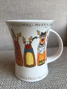 "Dunoon  Fine Bone China  ""Christmas Crackers""  Mug. Sarah Mercer"