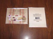 """New 2 Pkgs.=12 Blank Notecards & Envelopes -""""You Are La Creme de la Creme!"""""""