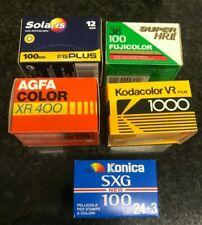 5 rolls  35mm film expired lot job Agfa & Fuji & 3M & Ferrania & Kodak out date