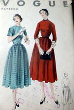 LOVELY VTG 1950s DRESS VOGUE Sewing Pattern 12/30 FF