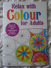 RELAX WITH COLOUR FOR ADULTS  - A4 SIZE COLOURING BOOK - 32 PATTERNED PAGES- NEW