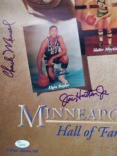 Chuck Mencel & Joe Hutton Jr. signed autographed portion of a poster - JSA auto