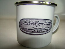 LAND Rover immagine retrò SMALTO TAZZA REGALO DI NATALE CLASSIC AUTO TAZZA di Natale Regalo