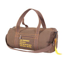 military style canvas bag vintage equipment pack brown rothco 22335