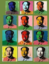 Andy Warhol Mao Zedong (12pc) POP ART lithograph fine print LARGE PRINT