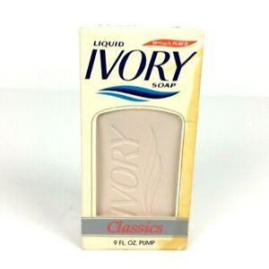 Liquid Ivory Soap 9 oz Pink Pump Dispenser in Original Box Vtg 1989