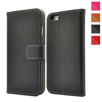 Genuine Leather Magnetic Flip Wallet Case Cover For Apple iPhone XS XR 8 7 6 5s