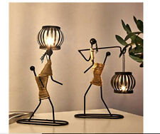 Rxan Metal Candle Holder Abstract Character Candlestick Decorative Handmade Cand