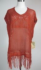 NWT One World Size M/8/10 Sexy Fringe Loose Fitting Top