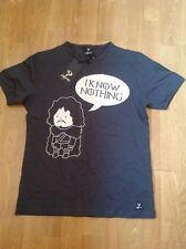 GREAT S-PONDER 'I KNOW NOTHING' GREY MENS T-SHIRT UK SIZE S BNWT