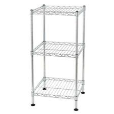 3 Layer Wire Shelving Rack Household Storage Adjustable Metal Shelf Organizer US