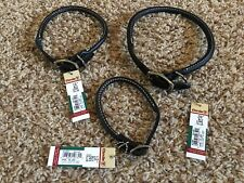 New w/Tags*Coastal Pet Products Circle T Black Rolleed Leather Collar w/Buckle