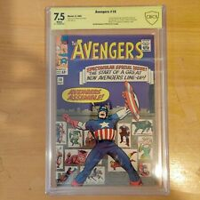 Avengers #16 CBCS (Not CGC) 7.5 White Pages, SIGNED BY STAN LEE, New Line Up.