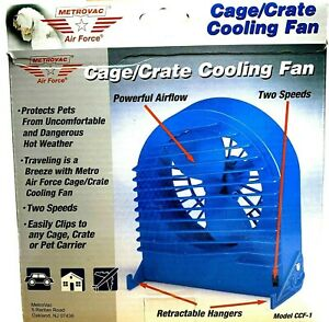Metro Air Force Cage Crate Pet Cooling Fan Vet Approved Free Shipping