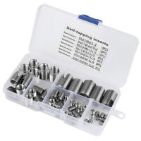 50Pcs Stainless Steel SUS302 Self Tapping Slotted Screw Thread Insert M3x10 Top