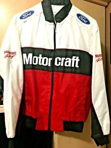 Ford Motorcraft Racing Vintage Men's Jacket MEDIUM Windbreaker