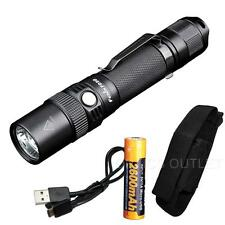 Fenix FD30 900 Lumen Zoomable Tactical Flashlight w/ USB Rechargeable 18650