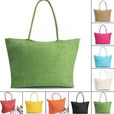 861d340b50 Womens Holiday Straw Tote Bag Beach Travel Shoulder Bag Casual Shopping  Handbag