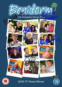Benidorm Movie Film Poster With Autographs Signed Print