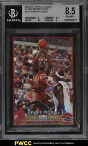 2003 Topps Chrome Black Refractor LeBron James ROOKIE RC /500 BGS 8.5 NM-MT+