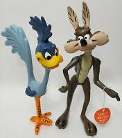 Vintage 1968 Dakin Warner Bros Coyote And Roadrunner Figures Cartoon Collectible