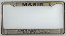 RARE Marin California Sonnen Porsche Vintage 911 912 Dealer License Plate Frame