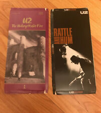U2 The Unforgettable Fire & Rattle and Hum CD Long Box Bono the Edge used no CD
