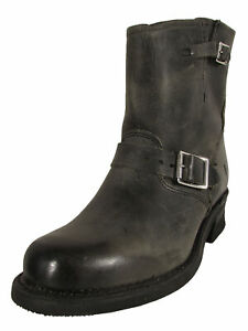 $298 Frye Womens Engineer 8R Pull On Round Toe Boots, Charcoal, US 9